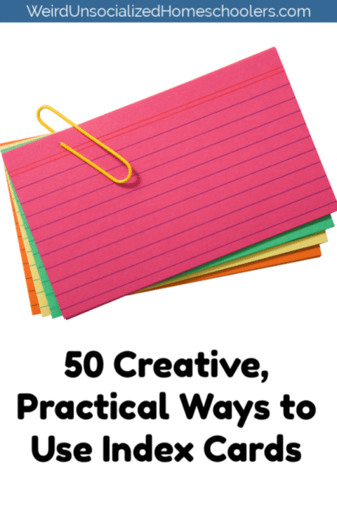 Practical Ways to Use Index Cards